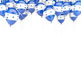 Balloon frame with flag of honduras