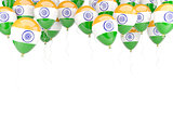 Balloon frame with flag of india