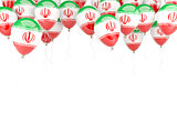 Balloon frame with flag of iran