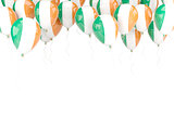 Balloon frame with flag of ireland