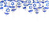 Balloon frame with flag of israel