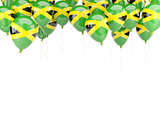 Balloon frame with flag of jamaica