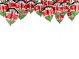 Balloon frame with flag of kenya