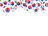 Balloon frame with flag of south korea