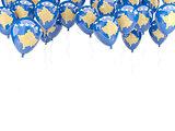 Balloon frame with flag of kosovo