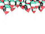 Balloon frame with flag of kuwait