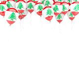 Balloon frame with flag of lebanon