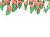 Balloon frame with flag of madagascar