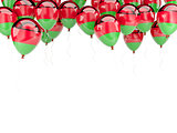Balloon frame with flag of malawi