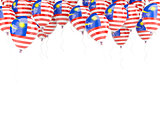 Balloon frame with flag of malaysia