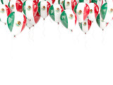 Balloon frame with flag of mexico