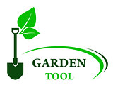 garden background with shovel