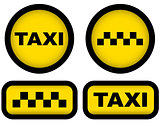 taxi signs set