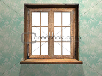 Closed wooden window