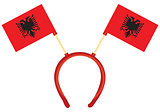 Flag of Albania on the headdress