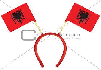 Flag of Albania on the headdress