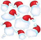 Christmas speech bubbles set 1