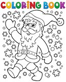 Coloring book Santa Claus in snow 2