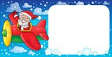 Santa Claus in plane theme image 2