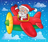 Santa Claus in plane theme image 3