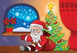Santa Claus indoor scene 8