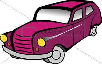Old pink car