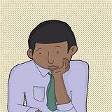 Bored Man in Necktie