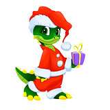 Funny Christmas cartoon character