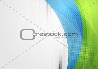 Abstract vibrant tech waves background