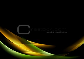Abstract shiny glow waves background