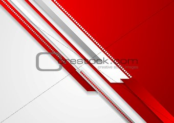Bright red technology corporate background