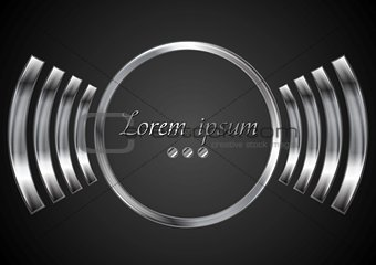 Abstract metal circle logo design