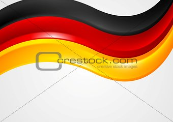 Wavy German colors background. Flag design