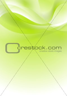 Green shiny wavy background design