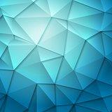 Tech geometry blue background