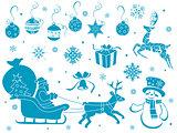 Set of Christmas stencils
