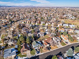 aerial cityscape of Fort Collins