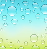 Water abstract background with drops, place for your text