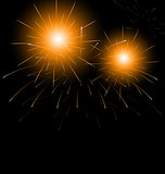 Christmas dark background with fireworks