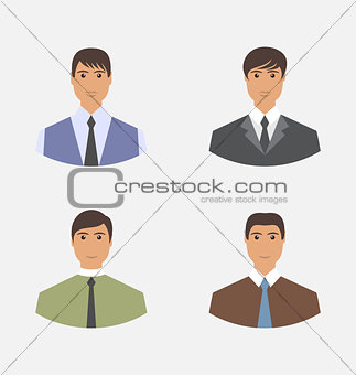 Avatar set front portrait office manager for web design