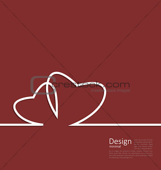 Layout couple hearts for design card on Valentines Day