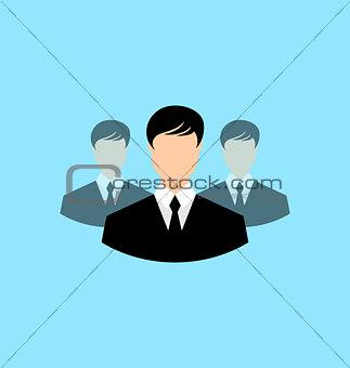 Avatar set front portrait office employee team for web design ap