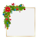 Decorative border from a traditional Christmas elements