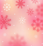New Year pink wallpaper with snowflakes