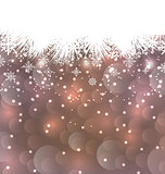 New Year background made in snowflakes, copy space for your text