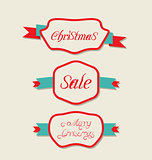 Christmas set variation vintage labels with text