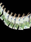 Laundering money