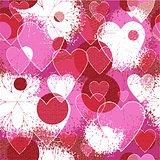 "Patterned texture ""Valentine's Day"""