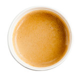 Coffee. Paper cup espresso on white background