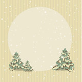 Winter retro striped background